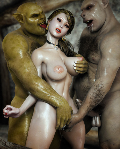 image Giant orc fucks teen babe and cums