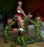 Erotic3dx – Carinas Nightmare Before Christmas + Erin & Vikki