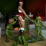Erotic3dx - Carinas Nightmare Before Christmas + Erin & Vikki
