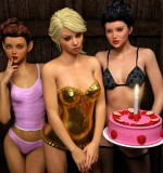 Art by Hibbli3D – Birthday Party with hot Girls
