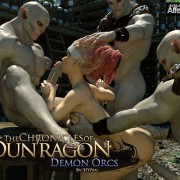 Art by 3DZen – The Chronicles of Dun'ragon 4 – Demon Orcs