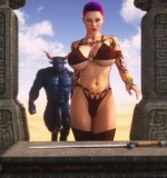 Art by Intrigue3D – Krissy And The Minotaur