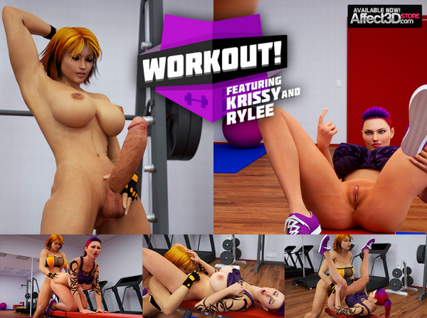 Art by Intrigue3D - Workout Featuring Krissy and Rylee