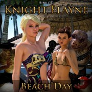 Art by Hibbli3D – Knight Elayne – Beach Day Part 1
