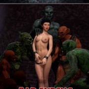 Art by Hibbli3D – Sorceress Lori - Sold To Demon - Bad Ending 2