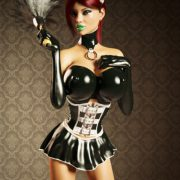 Art by Miki3DX – Denise Latex Maid