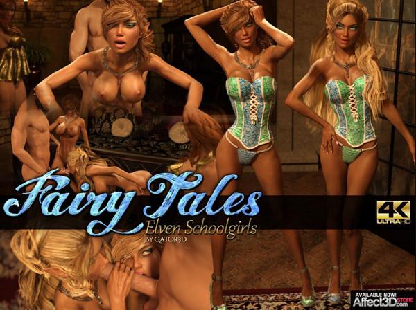Art by Gator3D – Fairy Tales – Elven Schoolgirls