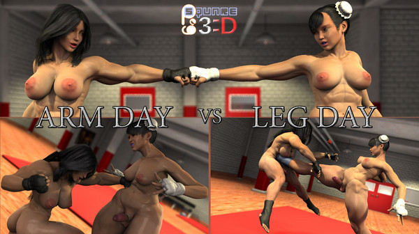 Art by Squarepeg3D – Arm Day vs Leg Day
