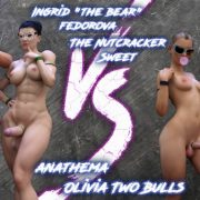 Art by Squarepeg3D – The FUTA – Match 04 – Ingrid and Margaret vs Shaylah and Olivia