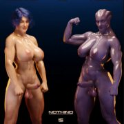 Art by Squarepeg3D – Futa Effect – Heilla vs Melanie