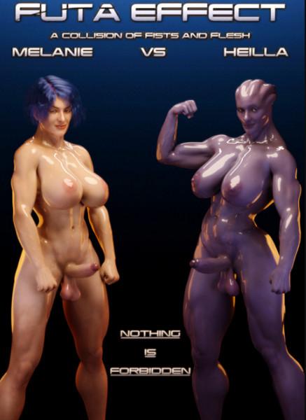 Art by Squarepeg3D – Futa Effect – Heilla vs Melanie