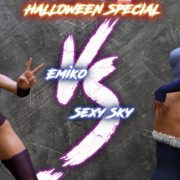 Art by Squarepeg3D – The FUTA – Match 05 – Emiko vs Sexy Sky