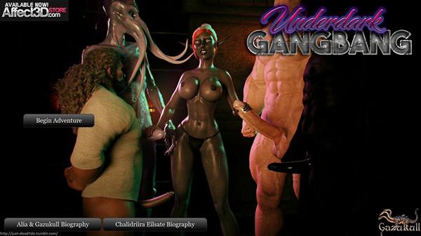 Gazukull / Affect3D - UnderDark GangBang
