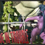 Art by Zuleyka - Tyrande in Trouble 1-2