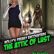Art by Supafly - Holly's Freaky Encounters - The Attic of Lust