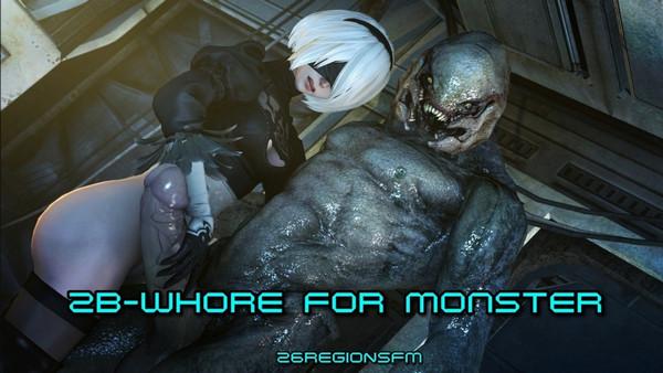 26RegionSFM - 2B-Whore For Monster