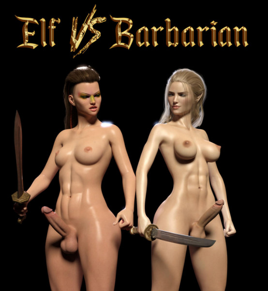 Art by Sarubo3d - Elf vs Barbarian