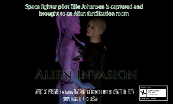 Art by 3DZen – Alien Invasion