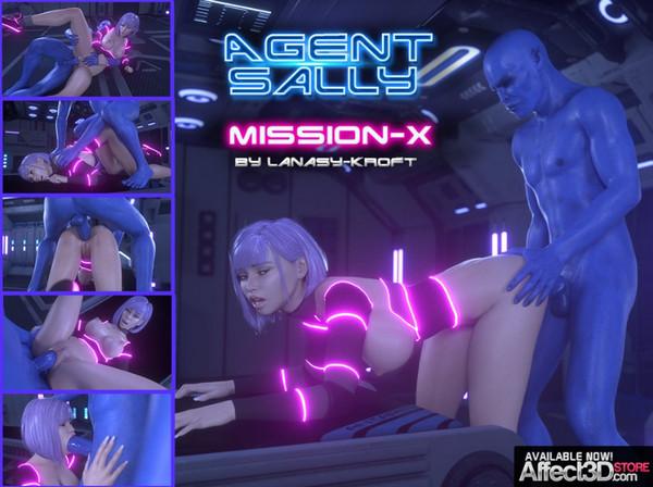 Art by LanasyKroft – Agent Sally – Mission X